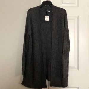NWT H&M small dark gray long open cardigan